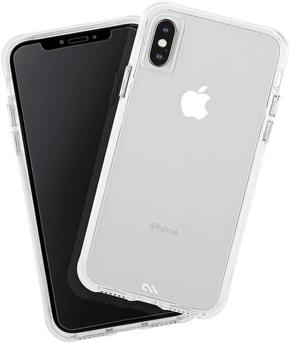 Case Mate iPhone XS Protection Pack Tough Clear Phone Case Plus Glass Screen Protector Drop Proof Dust Resistant Scratch Resistant