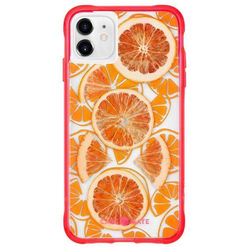 Case Mate Tough Juice Citrus Real Fruit Orange iPhone 11 Pro Max Phone Case Drop Proof Scratch Resistant Dust Resistant