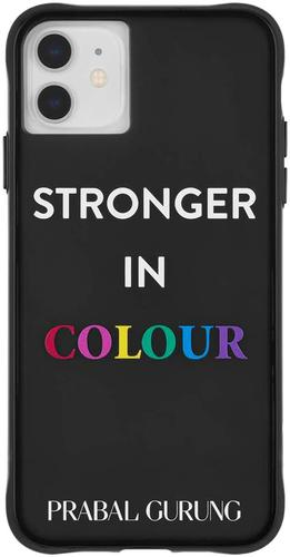 Case Mate Tough White Prabal Gurung Stronger In Colour iPhone 11 Phone Case Drop Proof Scratch Resistant Dust Resistant