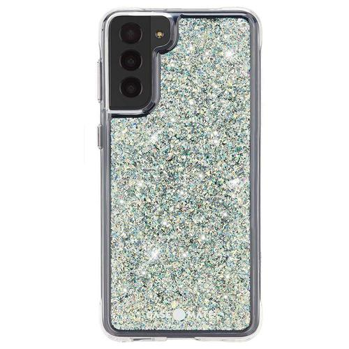 Case Mate Twinkle Stardust Samsung Galaxy S21 Ultra 5G Phone Case Micropel Antimicrobial Protection Dust Resistant Scratch Resistant Drop Proof