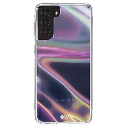 Case Mate Soap Bubble Samsung Galaxy S21 Plus 5G Phone Case Micropel Antimicrobial Protection Dust Resistant Scratch Resistant Drop Proof