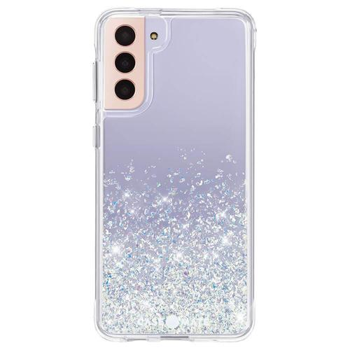 Case Mate Twinkle Stardust Ombre Samsung Galaxy S21 Plus 5G Phone Case Micropel Antimicrobial Protection Dust Resistant Scratch Resistant Drop Proof