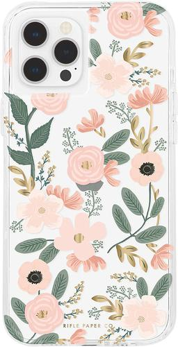 Case Mate Riffle Paper Co Wild Flowers iPhone 12 iPhone 12 Pro Phone Case Micropel Antimicrobial Protection
