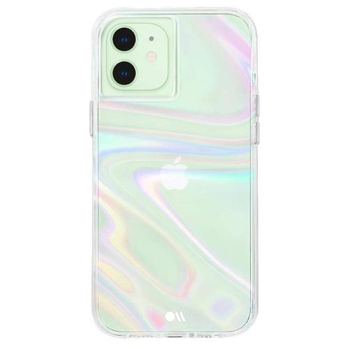 Case Mate Soap Bubble iPhone 12 iPhone 12 Pro Phone Case Micropel Antimicrobial Protection Dust Resistant Scratch Resistant Drop Proof