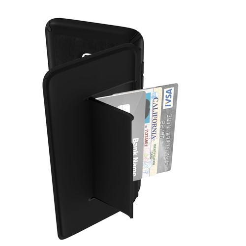 Speck Presidio Leather Folio Samsung Galaxy S9 Plus Black Phone Case IMPACTIUM Shock Barrier UV Resistant Drop Protection