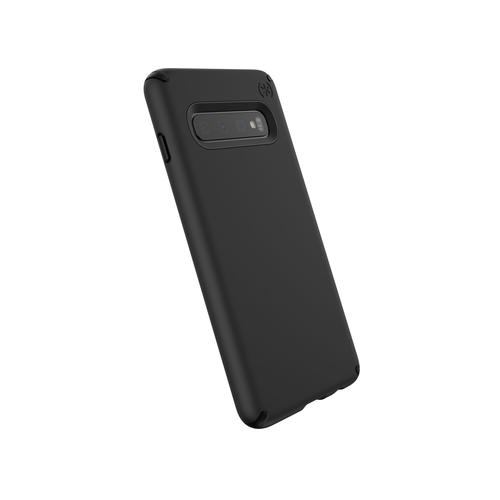 Speck Presidio Pro Samsung Galaxy S10 Black Phone Case IMPACTIUM Shock Barrier UV Resistant Rubber and Hard Outer Shell for Improved Drop Protection