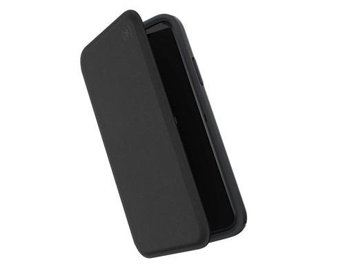 Speck Presidio Folio Apple iPhone X XS Heathered Black TPU Phone Case IMPACTIUM Shock Barrier Raised Edges UV Resistant