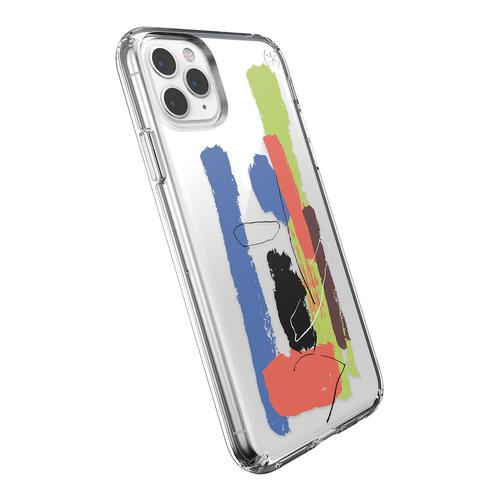 Speck Presidio iPhone 11 Pro Max Clear Plus Print Multicolour Phone Case IMPACTIUM Cushioning Microban