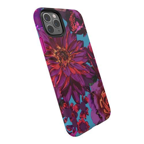 Speck Presidio Inked Flower Multicolour iPhone 11 Pro Max Phone Case IMPACTIUM Cushioning Antibacterial Scratch Resistant Shock Resistant