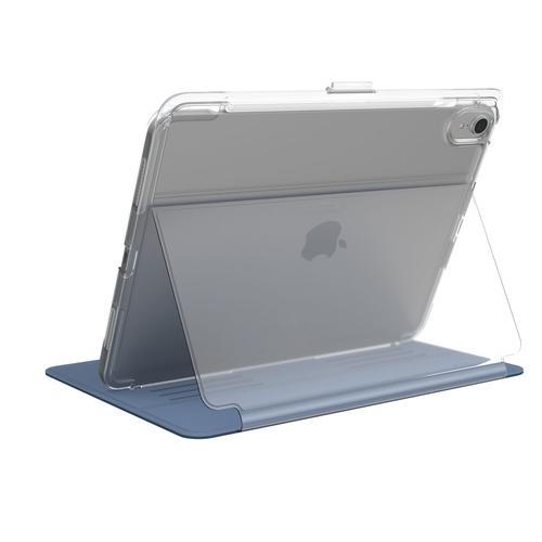 Speck Balance Folio Clear Apple iPad Pro 11 Inch 2018 Marine Blue Clear Tablet Case Bump Resistant Scratch Resistant