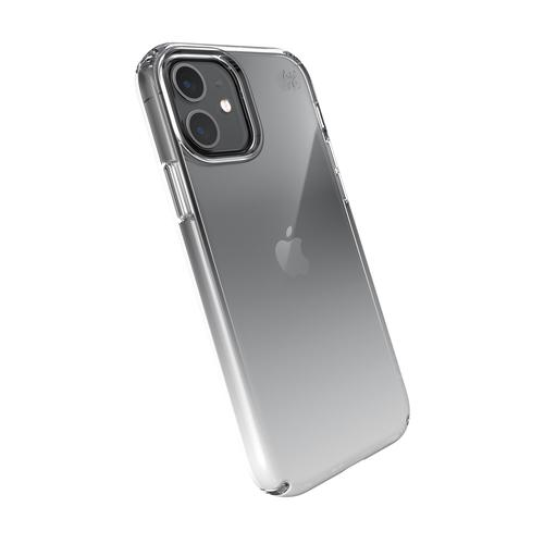 Speck Presidio Perfect Clear iPhone 12 iPhone 12 Pro Ombre Grey Phone Case Antibacterial Crash Proof Scratch Resistant Shock Resistant