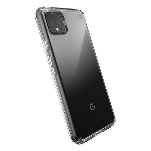 Speck Presidio Stay Clear Google Pixel 4XL Phone Case Bump Resistant Scratch Resistant Shock Resistant UV Resistant IMPACTIUM Clear Cushioning