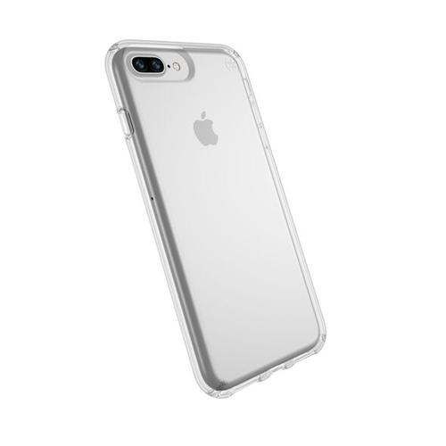 Speck Presidio Presidio Clear iPhone 8 Plus Phone Case 8 Foot Drop Tested IMPACTIUM CLEAR Resists UV Yellowing Scratch Resistant Coating