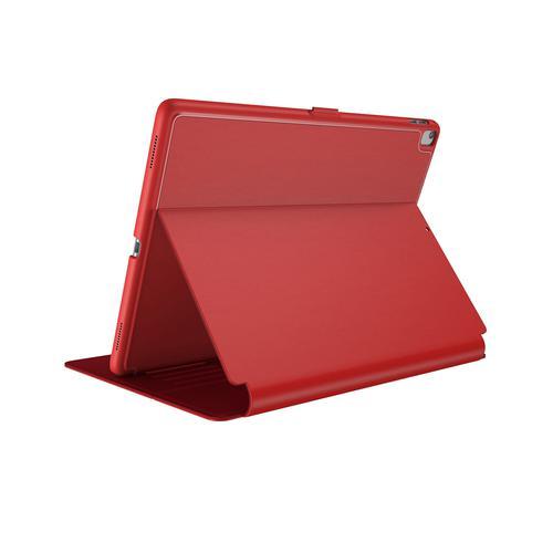 Speck Balance Folio iPad Air Air 2 9.7 Inch 2017 9.7 Inch 2018 iPad Pro 9.7 Inch Dark Poppy Red Bump Resistant Scratch Resistant Tablet Case