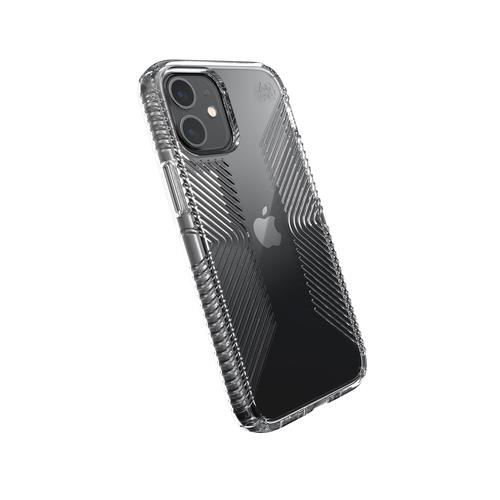 Speck Presidio Perfect Clear Shell Transparent iPhone 12 Mini Phone Case Antibacterial Crash Proof Scratch Resistant Shock Resistant
