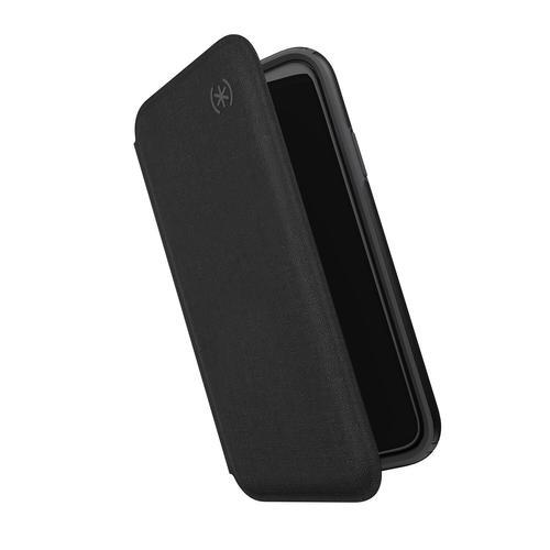 Speck iPhone 11 Pro Case Presidio Folio Wallet Flip Slim Protective Leather Folio Anti Scratch Cover  Heathered Black Slate Grey
