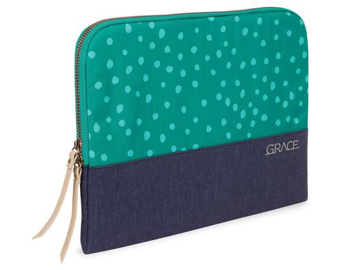 STM Grace 15 Inch Sleeve Notebook Case Teal Dots Night Sky Slim Light Ample Cushioning Supersoft Lining Dust Resistant Scratch Resistant