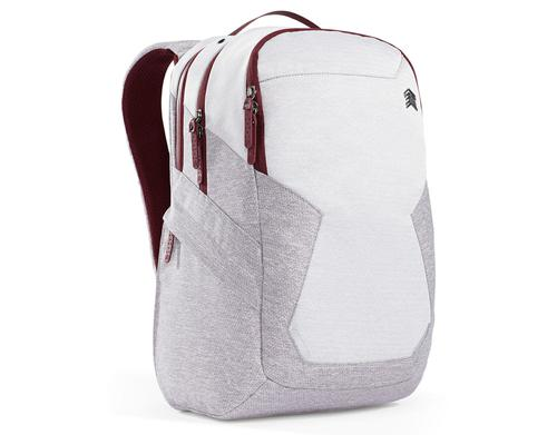 STM Myth 15 Inch Notebook Backpack Case Windsor Wine White Red Slingtech Cable Ready Luggage Pass Through