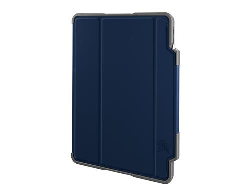 STM Dux Plus 11 Inch Apple iPad Pro Folio Navy Tablet Case Polycarbonate TPU Magnetic Closure 6.6 Foot Drop Tested Instant On and Off Feature Saves Ba