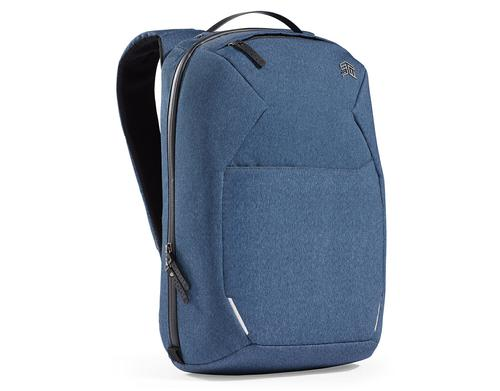 STM Myth 15 Inch Backpack Notebook Case Slate Blue and Black Slingtech Cable Ready Luggage Pass Through