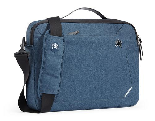 STM Myth 15 Inch Notebook Briefcase Slate Blue Slingtech Cable Ready Luggage Pass Through with Comfort Carry Scratch Resistant Water Resistant