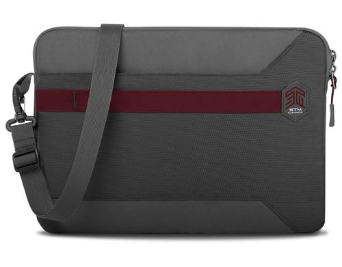 STM Blazer 2018 15 Inch Notebook Sleeve Case Granite Grey Polyester Water Resistant Form Fitting Sleeve