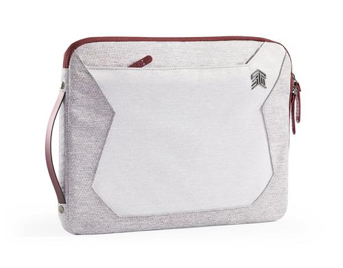 STM Myth 13 Inch Notebook Sleeve Case Windsor Wine White Red Slingtech Cable Ready Water Repellent Removable Shoulder Strap Scratch Resistant