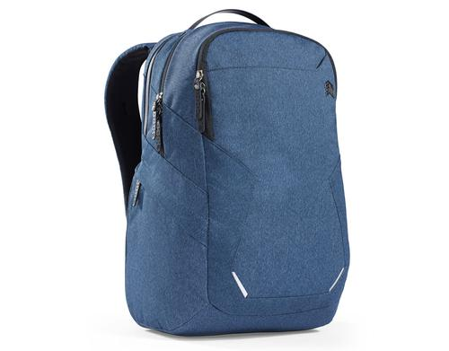 STM Myth 15 Inch Notebook Backpack Case Slate Blue Slingtech Cable Ready Luggage Pass Through with Comfort Carry Scratch Resistant Water Resistant