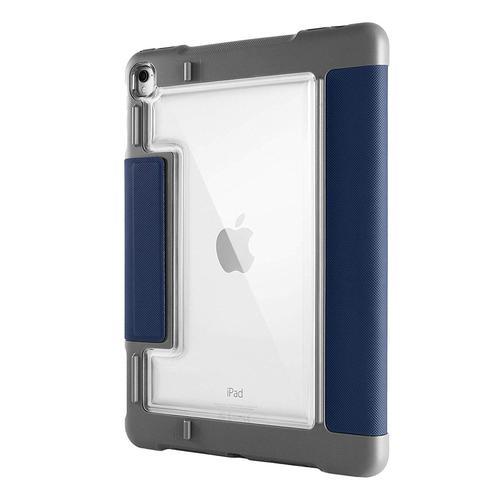 STM Dux Plus 11 Inch Apple iPad Pro 2nd Generation Tablet Case Clear Blue Polycarbonate TPU Magnetic Closure