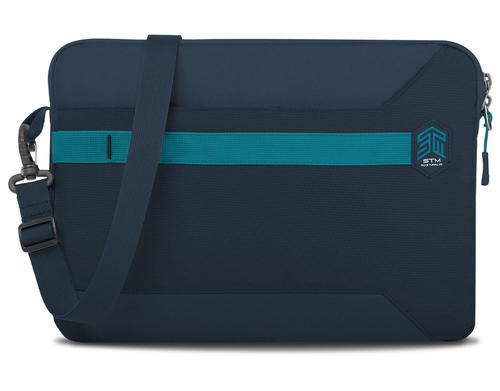 STM Blazer 2018 13 Inch Notebook Sleeve Case Dark Navy Polyester Water Resistant Form Fitting Sleeve