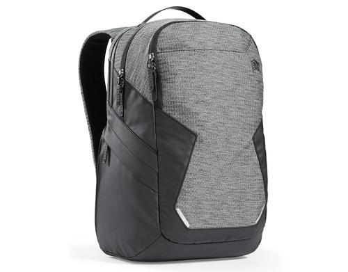 STM Myth 15 Inch Notebook Backpack Case Granite Black Slingtech Cable Ready Luggage Pass Through with Comfort Carry Scratch Resistant Water Resistant