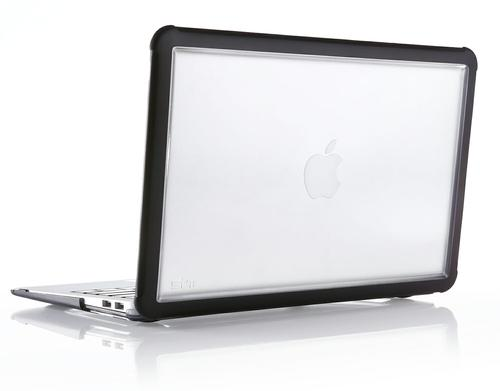 STM Dux 11 Inch Apple Macbook Air Notebook Case Black Transparent Polycarbonate and Rubberised TPU