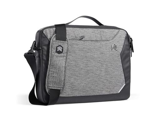 STM Myth 13 Inch Laptop Briefcase Granite Black Scratch Resistant Water Resistant Slingtech Cable Ready Luggage Pass Through Comfort Carry Technology