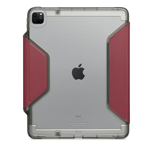 STM Dux Studio 12.9 Inch Apple iPad Pro 3rd 4th Generation Tablet Case Dark Red Grey Polycarbonate TPU Magnetic Closure