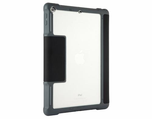 STM Dux 9.7 Inch Apple iPad 2017 Folio Tablet Case Black Grey Polyurethane TPU Water Resistant 6.6 Foot Drop Tested Shock Resistant
