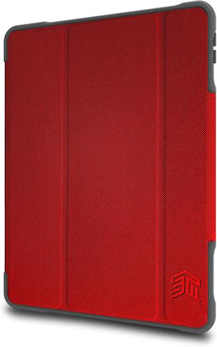 STM Dux Plus 10.9 Inch Apple iPad Air 4th Generation Folio Tablet Case Red Polycarbonate TPU Magnetic Closure