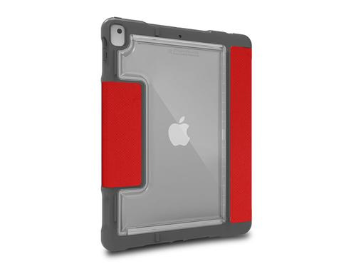 STM Dux Plus Duo 10.2 Inch Apple iPad 7th 8th Generation Folio Tablet Case Red Polycarbonate TPU Magnetic Closure