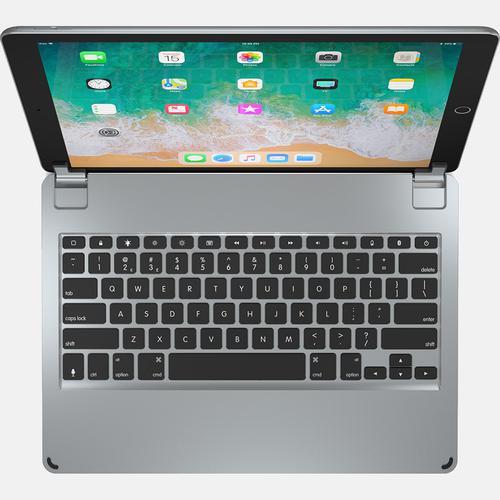 Brydge 12.9 Inches QWERTY English Bluetooth Wireless Keyboard for Apple iPad Pro Backlit Keys High Grade Aluminium Body Space Grey