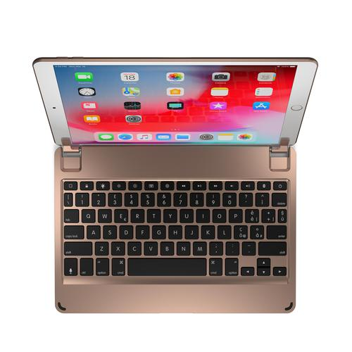 Brydge 10.5 Inches QWERTY Italian Bluetooth Wireless Keyboard for Apple iPad Air 3rd Generation and iPad Pro Lightweight Aluminium Body Backlit Keys R