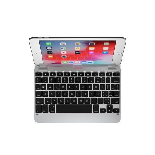 Brydge 7.9 Inches QWERTY Italian Bluetooth Wireless Keyboard for Apple iPad Mini 4th 5th Gen 180 Degree Viewing Angle 3 Level Backlit Keys Silver