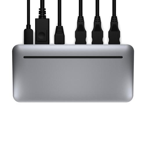 Brydge Stone II USB C Multiport Hub Silver 7 Ports HDMI RJ45 USB 3.2 Gen 1 3.1 Gen 1 Type A USB 3.2 Gen 1 3.1 Gen 1 Type C Gigabit Ethernet