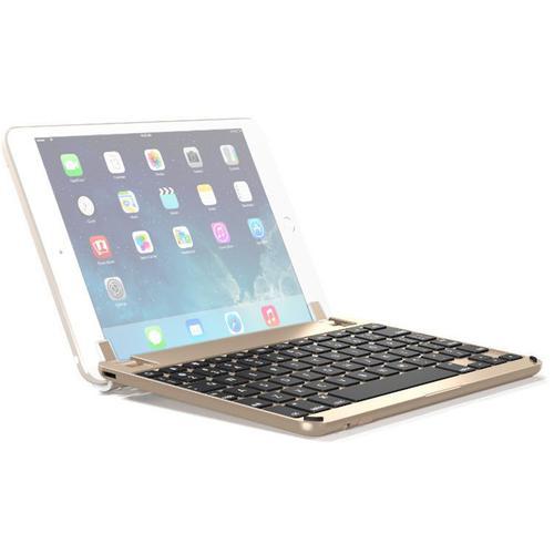 Brydge 7.9 Inches QWERTY English Bluetooth Wireless Keyboard for Apple iPad Mini 4th 5th Generation Aluminium Body Backlit Keys Gold