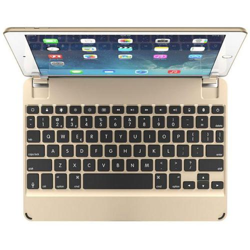 Brydge 10.5 Inches QWERTY English Bluetooth Wireless Keyboard for Apple iPad Pro Lightweight Aluminum Body Backlit Keys 180 Degree Viewing Angle Gold