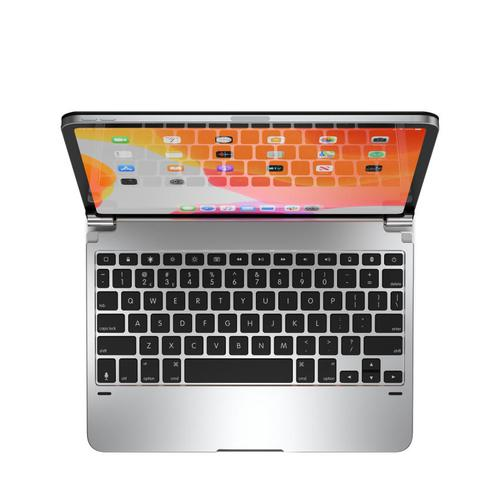 Brydge 11 Inch QWERTY English Bluetooth Wireless Keyboard for Apple iPad Pro 1st 2nd Generation 180 Degree Viewing Angle Aluminium Silver