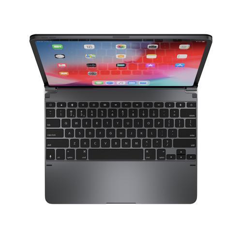 Brydge 12.9 Inch QWERTY American English US Bluetooth Wireless Keyboard for Apple iPad Pro 3rd 4th Gen Backlit Keys Aluminium Space Grey