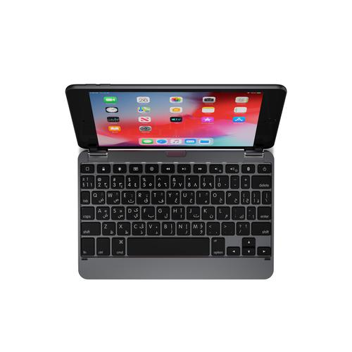 Brydge 7.9 Inch QWERTY Arabic Bluetooth Wireless Keyboard for Apple iPad Mini 4th 5th Gen 3 Level Backlit Keys Strong And Durable Space Grey
