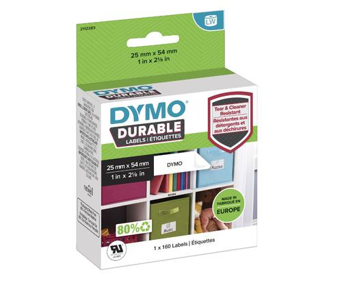 Dymo LabelWriter Label Durable 25mm x 54mm White Poly (Pack 160) 2112283