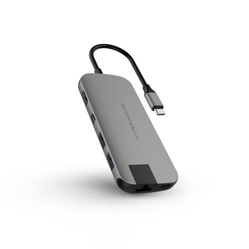 HyperDrive SLIM 8 in 1 USB C Hub Space G