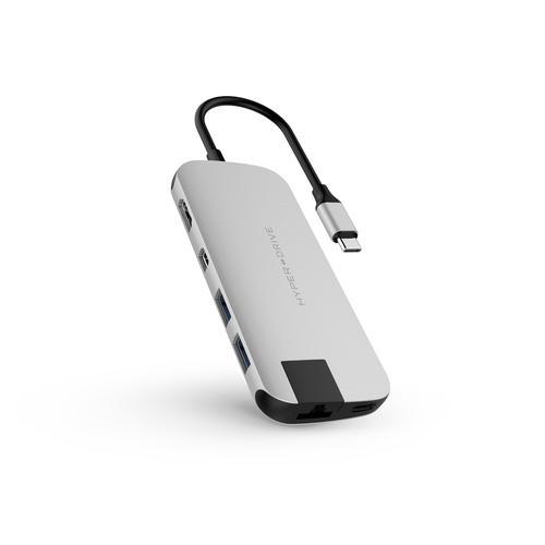 HyperDrive Slim 8 in 1 USB C Hub Silver