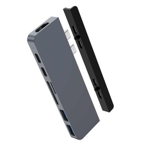 DUO 7 in 2 Hub for USB C MacBook P Gray